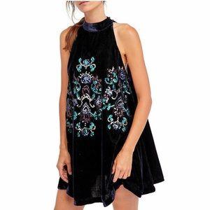 NWT Jill's Navy Blue Velvet Sequin Swing Dress